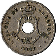 5 Centimes - Léopold II (French text; large date) -  obverse