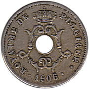 10 Centimes - Léopold II (French text - Large date) – obverse