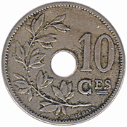 10 Centimes - Léopold II (French text - Large date) – reverse