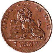 1 Centime - Léopold I – reverse