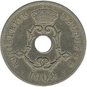 25 Centimes - Léopold II (Dutch text) – obverse