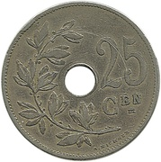 25 Centimes - Léopold II (Dutch text) – reverse