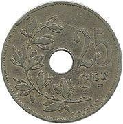 25 Centimes - Léopold II (Dutch text) -  obverse