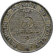 5 Centimes - Léopold II (Dutch text) – reverse