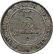 5 Centimes - Léopold II (Dutch text) – reverse