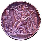 5 Centimes - Léopold I (25th Anniversary Inauguration of the King; French) – obverse