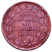 5 Centimes - Léopold I (25th Anniversary Inauguration of the King; French) – reverse
