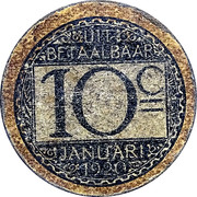 10 Centimes (Stad Gent) -  reverse