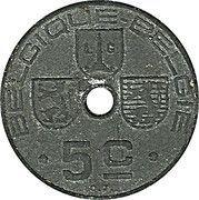 5 Centimes - Léopold III (BELGIQUE-BELGIE) -  reverse