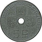 5 Centimes - Léopold III (BELGIE-BELGIQUE) – reverse