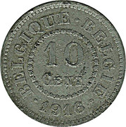 10 Centimes (German Occupation Coinage) – reverse