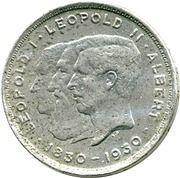 2 Belga / 10 Francs - Albert I (French text; Centennial of Belgium's Independence) – obverse