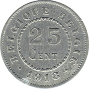 25 Centimes (German Occupation Coinage) -  reverse