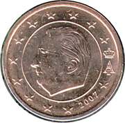 1 Euro Cent - Albert II (1st type, 1st portrait) – obverse