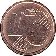 1 Euro Cent - Albert II (1st type, 1st portrait) -  reverse