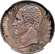 5 Francs - Léopold I (Pattern strike) – obverse