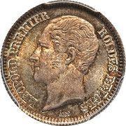 ½ Franc - Léopold I (Pattern) – obverse