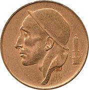 50 Centimes - Baudouin I (Dutch text; larger head) -  obverse