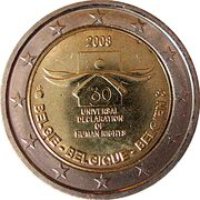 2 Euro - Albert II (Human Rights) – obverse