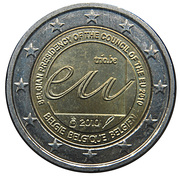 2 Euro - Albert II (Belgian Presidency of the EU) – obverse