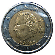 2 Euro - Albert II (2nd map, 2nd type, 2nd portrait) – obverse