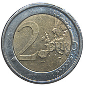 2 Euro - Albert II (2nd map, 2nd type, 2nd portrait) – reverse