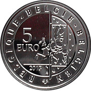 5 Euro - Albert II (Spirou; colorized) – obverse