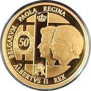 100 Euro - Albert II (Royal Wedding Anniversary) – obverse