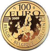 100 Euro - Albert II (Royal Wedding Anniversary) – reverse