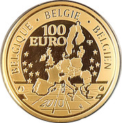 100 Euro - Albert II (Prince Philippe) – reverse