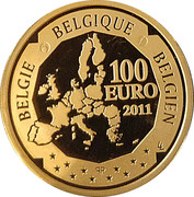 100 Euro - Albert II (Victor Horta) – reverse