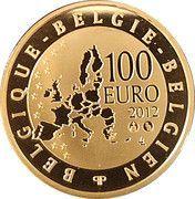 100 Euro - Albert II (Death of Mercator) – reverse