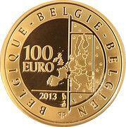 100 Euro (King Baudouin) – reverse