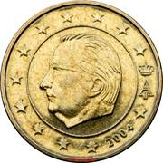 10 Euro Cent - Albert II (1st map, 1st type, 1st portrait) -  obverse