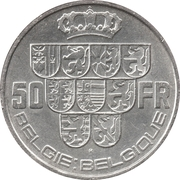 50 Francs - Léopold III (BELGIE:BELGIQUE) – reverse