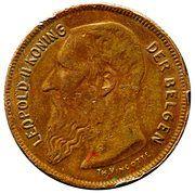 2 francs - Léopold II légende en néerlandais (essai) – obverse