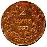 2 francs - Léopold II légende en néerlandais (essai) – reverse