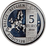 5 Euro - Philippe (Smurfs; colourized) – obverse