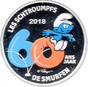 5 Euro - Philippe (Smurfs; colourized) – reverse