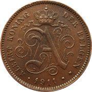 2 Centimes - Albert I (Dutch text) – obverse