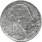 5 Francs - Léopold III (French text) -  obverse