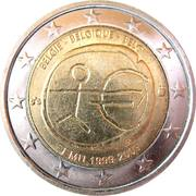 2 Euro - Albert II (10 Years of EMU) -  obverse