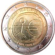 2 Euro - Albert II (10 Years of EMU) – obverse