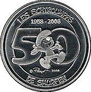 5 Euro - Albert II (Smurfs, not in color) – reverse