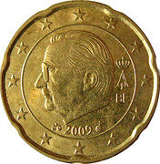 20 Euro Cent - Albert II (2nd map, 2nd type, 1st portrait) -  obverse