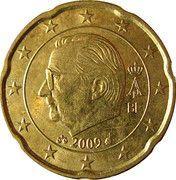 20 Euro Cent - Albert II (2nd map, 2nd type, 1st portrait) – obverse