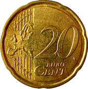 20 Euro Cent - Albert II (2nd map, 2nd type, 1st portrait) -  reverse