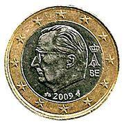 1 Euro - Albert II (2nd map, 2nd type, 1st portrait) -  obverse