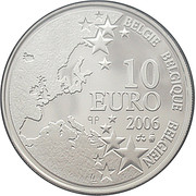 10 Euro - Albert II (Mines of Marcinelle Disaster - plated type) – obverse