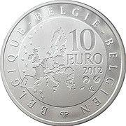 10 Euro - Albert II (Pierre de Coubertin) – obverse